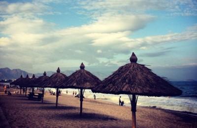 Nha Trang beach Sunday Afternoon